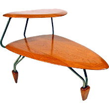 John Keal Surfboard Side Table for Brown Saltman