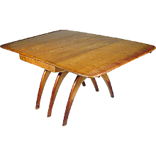 Heywood Wakefield Butterfly Drop Leaf Wishbone Dining Table