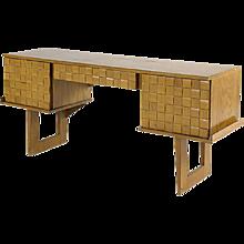 Paul Laszlo Bleached Oak Desk for Brown Saltman