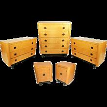 Art Deco Bedroom Set in Birdseye Maple