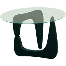 Noguchi Style Black Lacquer Side Table