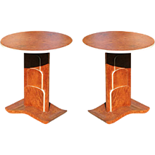 Art Deco Inspired Flip Table Pair in a Jacques Ruhlmann Manner