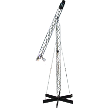 "Post Modern """"Crane"""" Floor Lamp by Curtis Jere"
