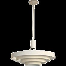 "American Streamline Art Deco """"Saturn Rings"""" Ceiling Light Fixture"