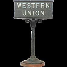 Rustic Western Union Countertop Lamp