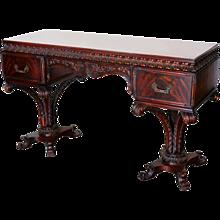Grosfeld House Style Regency Plume Base Desk