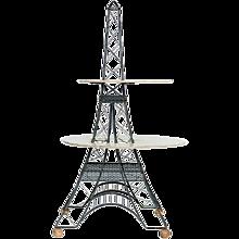 Mid Century 2 Tier Eiffel Tower Brass Sculptural Table