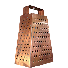 Curtis Jere Cheese Grater Pendant
