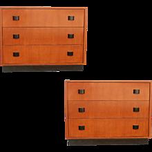 Art Moderne Low Boy Dresser Set by Gilbert Rohde