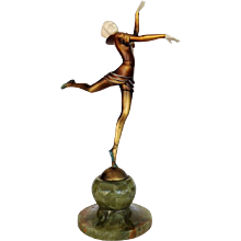 Bronze Ballet Russes Dancer Statuette by Stefan Dakon