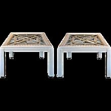 Vintage Embossed Side Tables (pair)