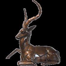 A Deer Sculpture by Sergio Bustamante