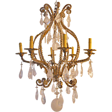 Striking Rock Crystal Chandelier