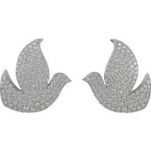 CARTIER Diamond Dove Ear Clips