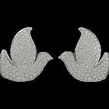 CARTIER Diamond Dove Ear Clips