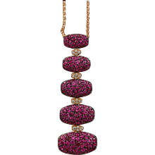 Pink Sapphire & Diamond Necklace by De Grisogono
