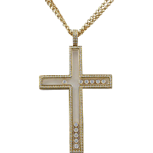 CHOPARD Happy Diamonds Cross Necklace/Pendant
