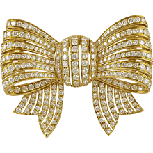 Van Cleef & Arpels Diamond Bow Brooch