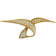 Sterle' Diamond Brooch