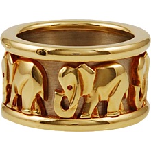 Elephant Wedding Ring by Cartier