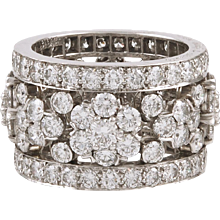 VAN CLEEF & ARPELS Diamond Snowflakes Band Ring