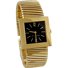 Bulgari Tri-Color Square Face Watch
