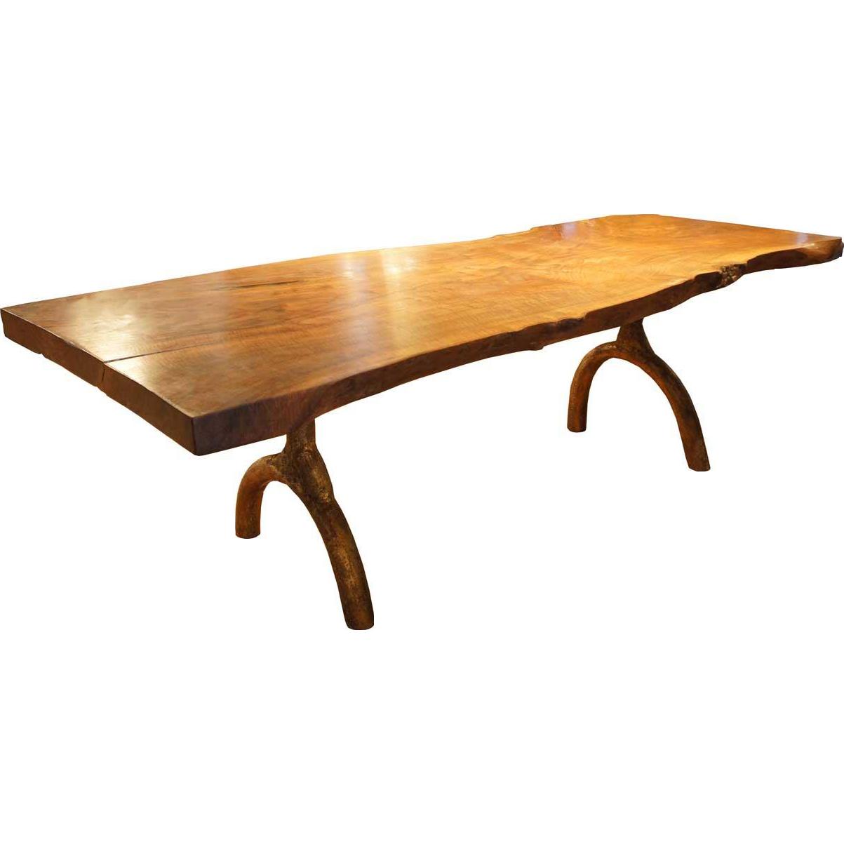 Large American Hudson Furniture Live Edge Solid Walnut