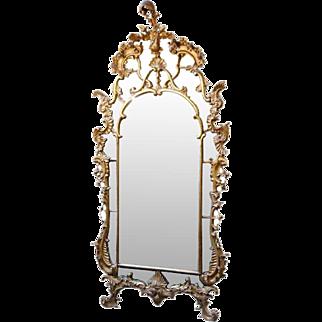 Important Italian Rococo 18th century Giltwood Mirror (was $35,000)