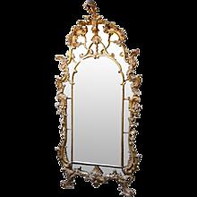Important Italian Rococo 18th century Giltwood Mirror