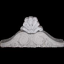 Two-Piece American Victorian Limestone Architectural Pediment