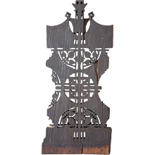 American Louis Sullivan Prairie School Redwood/Cedar Pierced Panel