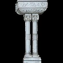 Scandinavian Renaissance Revival Grey Marble Wall Fountain or Planter