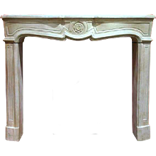 Fine French Louis XIV/XV Transitional Fireplace Surround