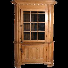 American Chippendale Pine Corner Cabinet