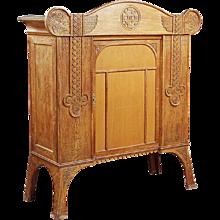 Danish/Norwegian Celtic Revival Oak Cabinet
