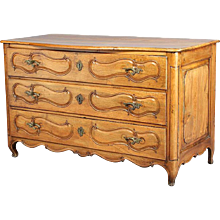 French Louis XV Pale Walnut Commode
