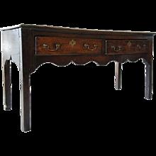 English George III Oak Dresser Base