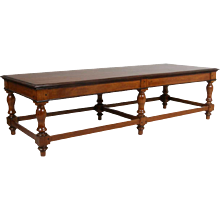 Large Anglo Indian Rosewood and Satinwood Bench/Low Table