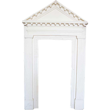 American Colonial White Painted Door Surround