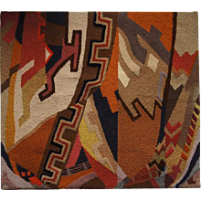 Vintage American Hand Woven Wool Native American Style Wall Tapestry
