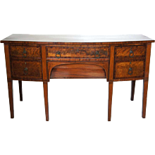 English George III Satinwood Inlaid Mahogany Sideboard
