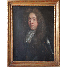English School Baroque Oil on Canvas Painting, Portrait of a Nobleman