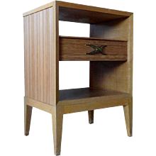 American PAUL T. FRANKL for Brown-Saltman Mid Century Modern Bleached Mahogany Night Stand