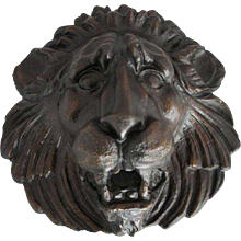 Large 18th Century  Style  Cast Bronze Lion Fountainhead