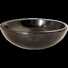 Native American MARIA MONTOYA MARTINEZ San Ildefonso Pueblo Black Pottery Bowl