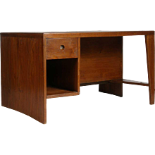 PIERRE JEANNERET Teak Kneehole Desk from Chandigarh, India