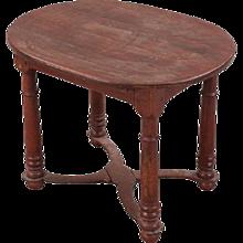 Swedish Baroque Pine and Oak Oval Tavern Table