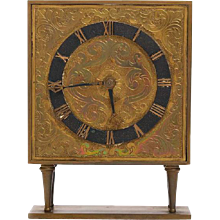Swedish Grace Era  Brass Mantel or Shelf  Clock