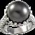 13mm Tahitian Pearl Diamond Platinum Cocktail Ring