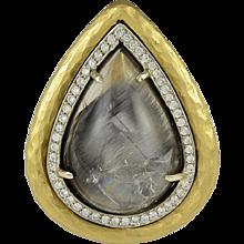 Pamela Froman Empress Rutilated Quartz and Diamond Ring